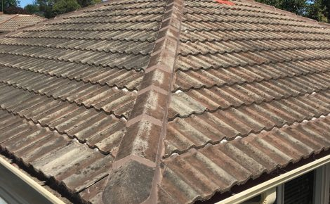 Repointed roof ridge cappings