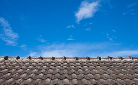 roof and blue sky in Melbourne